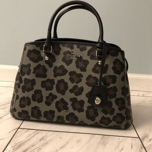 NWT Coach Leopard Tote w/Crossbody Attachment